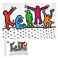 1000ピース ジグソーパズル キース ヘリング 木製 大人 子供パズル カップル 益智おもちゃ レジャーおもちゃ 恋人 誕生日 バレンタイン 友達同士のギフト 家の装飾 装飾画 壁掛け壁画 インテリア 収納ケース付き