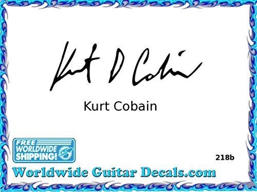Kurt Cobain Famous guitar signature players guitar decal waterslide 218b