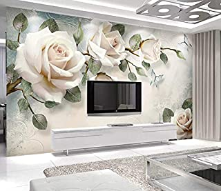 3D Murals Stickers Wall Wallpaper Decorations Hand Drawn Oil Painting Flower Rose Flowers Bedroom Living Room Sofa Art Kids Kitchen (W)200x(H)140cm