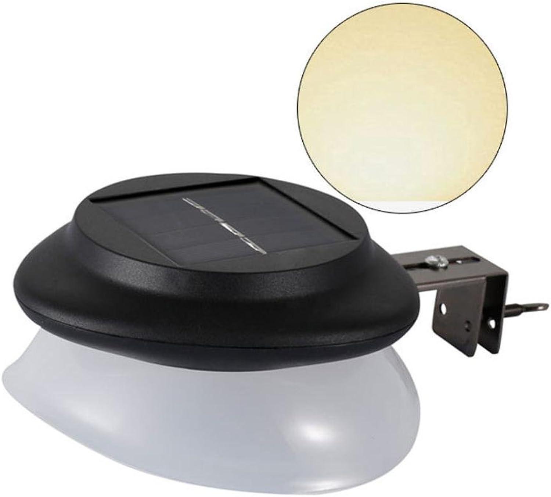 Solar Wandleuchte,Solar New Powerot Outdoor Garten Licht Gutter Zaun 9 LED Wandlampe Lampe mit Bewegungsmelder Auen Batterie Solar, Wasserdicht Solarlampe Sensor Led Licht Von Jaminy (Schwarz)