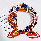 K-ONE Pañuelos de Seda Versátil Decorativo Delicado Pintura al óleo Seda de Gusano de Seda Primavera y Verano Pañuelos de Seda versátiles