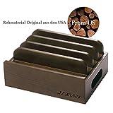 JZBRAIN Universal Ladestation Kabel Organizer (aus Holz) Nussbaumholz Ständer...