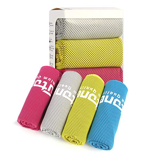 Futone Cooling Towel, Gym Towels, Sweat Workout Towels, Cooling Towels for Neck, Compact Sports Towels for Men Women, 40