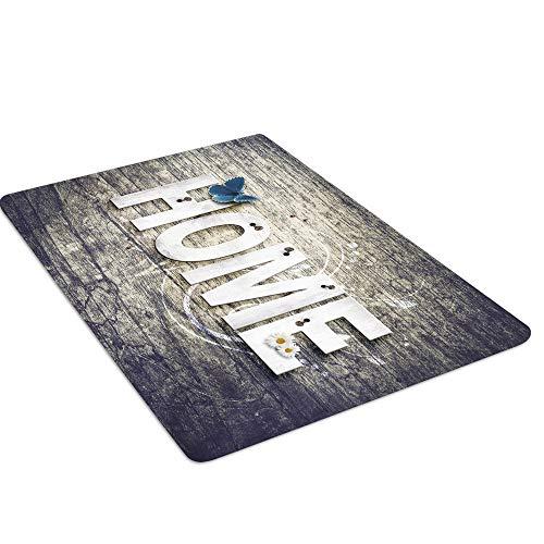 Mishxh tapijt, eenvoudige stijl, antislip, waterdicht, zacht en wollig, geschikt voor woonkamer, slaapkamer, keuken, hal. 140x200cm