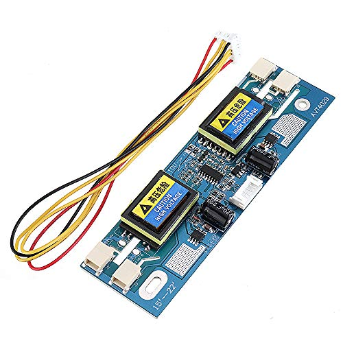 NARJOG Universal-CCFL-Wechselrichter mit 4 Lampen, 10 V-30 V Ausgang für 15-24 Zoll LCD-Display Monitor mit 4 Kabeln