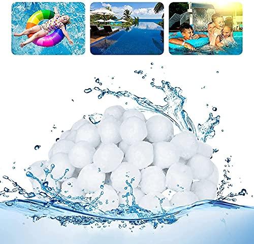 Filterballs für Sandfilteranlagen, Pool Filterbälle, Kann ersetzt 25kg Filtersand Quarzsand aus Deutschland Geeignet für Sandfilteranlage Pool, Filterpumpe, Poolzubehör Poolreiniger Sandfilteranlage