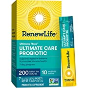 Renew Life Adult Probiotic - Ultimate Flora Probiotic Extra Care, Probiotic Supplement - 200 Billion - 7 Day Program, 7 Packets (Packaging May Vary)