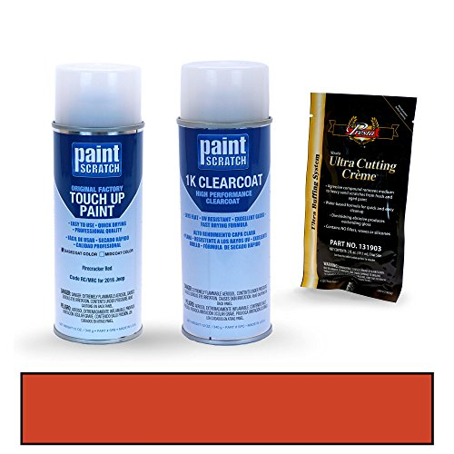 PAINTSCRATCH Firecracker Red RC/MRC for 2016 Jeep Wrangler - Touch Up Paint Spray Can Kit - Original Factory OEM Automotive Paint - Color Match Guaranteed