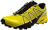 Salomon Speedcross 4, Zapatillas de Trail Running para Hombre, Amarillo (Empire Yellow/Black), 43 1/3 EU