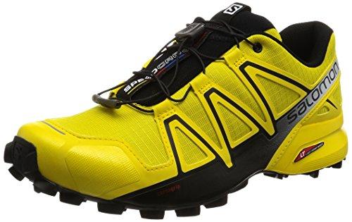 Salomon Herren Speedcross 4 Trailrunning-Schuhe, Gelb (Empire Yellow/Black), 43 1/3 EU