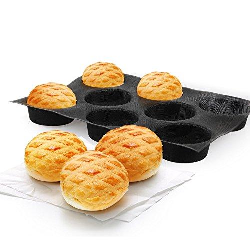 8-molowa silikonowa nieprzywierająca perforowana mata do pieczenia bułki chlebowe do bułek hamburger chleb forma patelnia taca