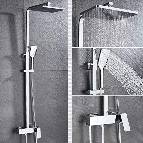 HNLY Badezimmer-Set schwarz Badezimmerarmatur Duscharmatur Wand-Duscharmatur Duscharmatur-Set