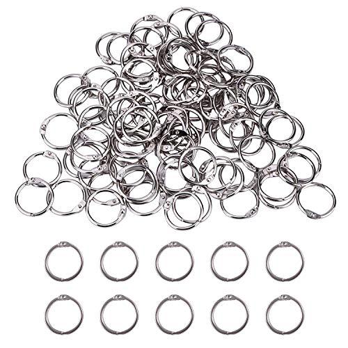 CZ Store®- anillas de encuadernación|100UDS+25MM+25MM|✮✮GARANTÍA DE POR VIDA✮✮- anillas de metal para libros/cuadernos/scrapbooks/anillas articuladas/para la escuela/hbbies creativos
