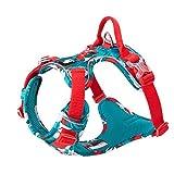 TRUE LOVE TLH5653 - Imbracatura riflettente in nylon per cani di piccola taglia e grossa taglia (blu mimetico, XS)
