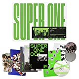 SuperM 1st Album - SUPER ONE [ ONE ver. ] CD + Photobook + Booklet + Postcard + Folded Poster(On pack) + Photocards + FREE GIFT