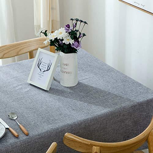 YOUYUANF tischdeckeNappe étanche Coton et Lin Nappe rectangulaire Table à Manger antifouling Jardin pique-nique120x160 cm