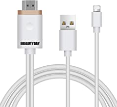 Compatible with iPhone to HDMI Adapter Cable, EBEAUTYDAY HDMI Digital AV Adapter 1080P HDTV Cord Converter for iPhone Xs Max XR X 8 7 6 Plus iPad Pro Air Mini iPod - Plug and Play