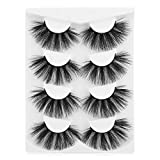 25mm Lashes Faux Mink 3D Fluffy Volume Thick Strip Lashes 4 Pairs