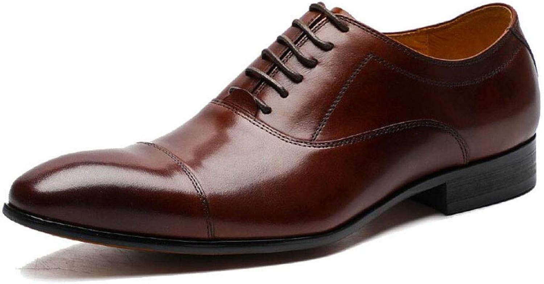 Vårskor för män och läderskor Casual Points British Belt Oxford Oxford Oxford Dress Squat herrar skor  upp till 60% rabatt