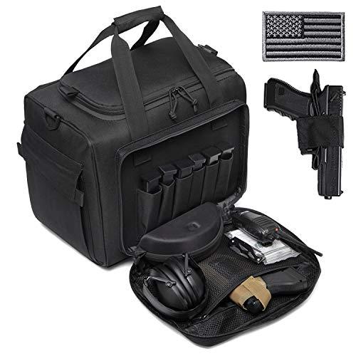 DBTAC Gun Range Bag Large | Tactical Pistol Shooting Range Duffle Bag for 4+ Handguns...