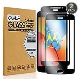 Owbb [2 Pièces] Protecteur D'écran en Verre Trempé pour Motorola Moto E4 Plus (5.5 Pouce) Noir...