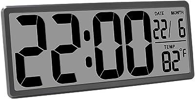 Reloj de Escritorio y Escritorio de Pared Digital LCD, Reloj Despertador de Viaje de Reloj