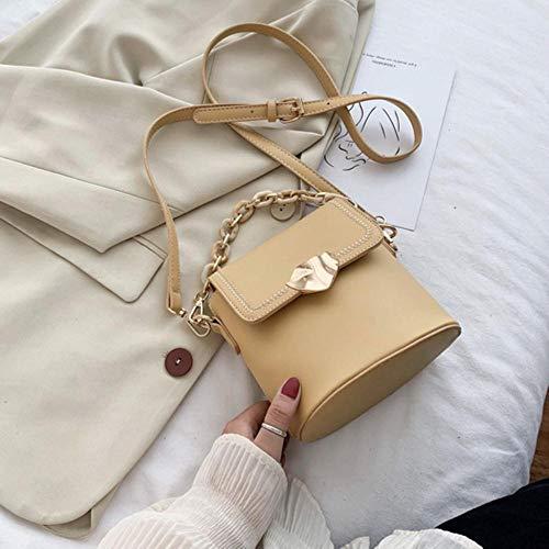 PANZZ Bucket Bag Crossbody Bags Women Summer Shoulder Sacs à Main, Jaune, Mini