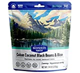 Backpacker's Pantry Cuban Coconut Rice & Black Beans | Freeze Dried Backpacking & Camping Food | Emergency Food | 27 Grams of Protein, Vegan, Gluten-Free | 1 Count