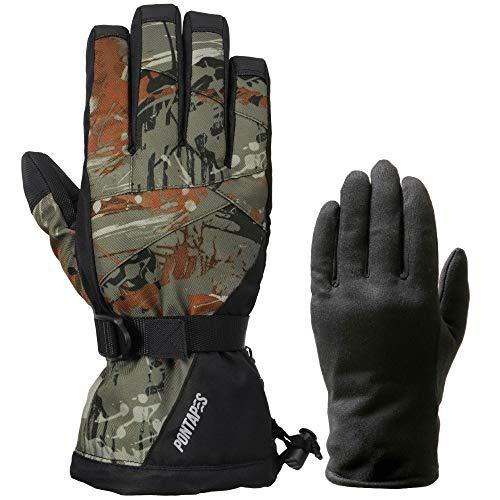 PONTAPES PG-05 Snowboard Gloves, Film, Inner Gloves, 20 Colors, Men's, Women's, Designed in Japan, 4 Sizes, Paint, XL Size, Snow Gloves, Skiing