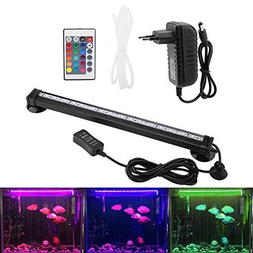 Zerodis LED Aquarium Light Sommergibile Bolla di Acquario Bubble Light con Telecomando Subacqueo Lampada a LED Colorata per Kit Luce Acquario(31cm)