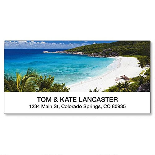 Tropical Paradise Personalized Return Address Labels- (8 Designs) Set of 144, Large Self-Adhesive, Flat-Sheet Labels, by Colorful Images