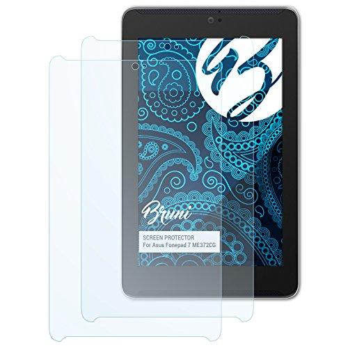 Bruni Schutzfolie kompatibel mit Asus Fonepad 7 ME372CG Folie, glasklare Displayschutzfolie (2X)