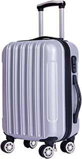 IhDFR Luggage Suitcase, Small Fresh Password, Waterproof Suitcase, Business Trolley, Boarding Suitcase (Color : Silver, Size : 28 inches)