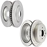OCPTY Brake Rotors Kit, Complete Front Rear Brake Rotors Set fit...