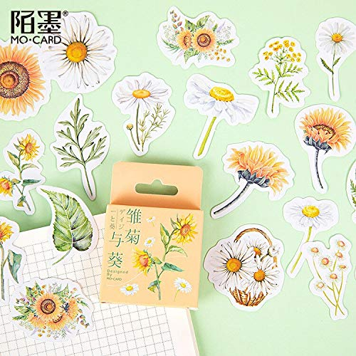 Daisy and sunflower Scrapbooking Stickers Cartoon Paper Sticker Flake Stationary Office Accessorie Art Supplie