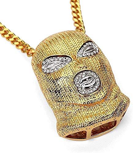 NC110 Men's and Women's Necklace Pendant GiftsJewelry Men s Anti-Terrorism Headgear 18K Plating Tide Card Necklace Pendant YUAHJIGE
