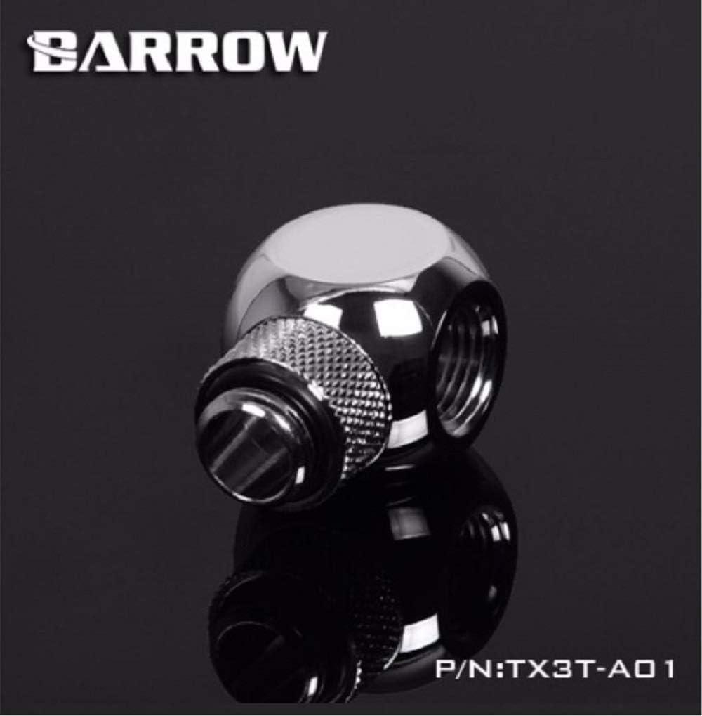 White Rotary Barrow G1//4 3-Way Ball Fitting