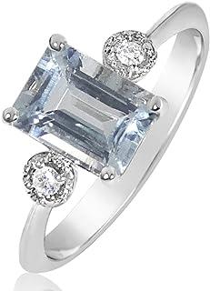 Cadeau de Mariage Zircone Cubique 18K blanc Plaqué or aigue-marine Tennis Bracelet