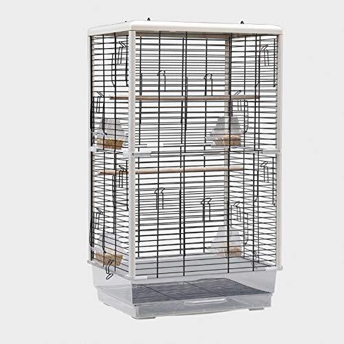 TOPYL Gabbia per Uccelli Mobile Medio Ferro Battuto Gabbia di Pappagallo Gabbia di Volo per Piccolo Animali,Cacatua,Pappagalli,Lovebird,Supporto di Gioco E Ciotola di Alimentazione