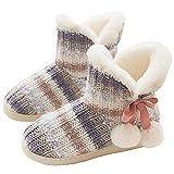 GURGER Zapatillas de Estar por Casa Mujer Botas Pantuflas Invierno Calentitas Botines Multicolor Talla 37 38