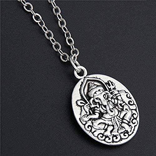 FACAIBA Collar, 1 Pieza, Plata, dijes de Dios hindú, Elefante, Collar Personalizado, joyería de Yoga, Regalos