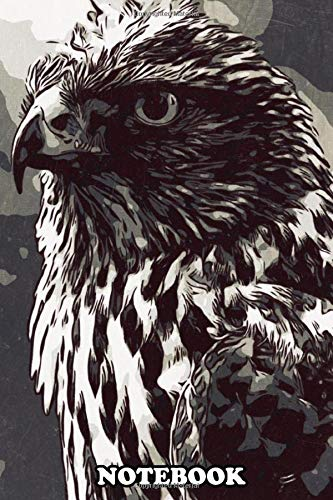 Notebook: Bald Eagle Artwork , Journal for Writing, College Ruled Size 6' x 9', 110 Pages
