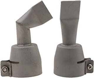 Homyl ライスター熱風プラスチック溶接ノズル用の20mmフラットスリット形状速度溶接ノズル口チップ(90度&ストレートフラット)