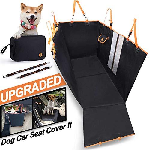 LXYDD Rear Pet Car Mat Detachable Dog Mat, Anti-dirty and Waterproof Rear Seat Dog Car Mat,Black,130 * 148 * 52cm