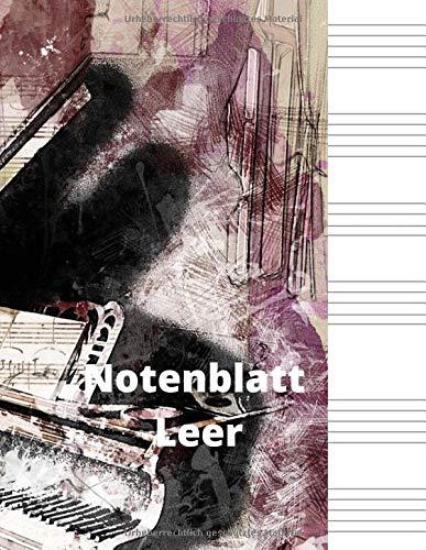 Notenblatt Leer: Notenblatt Leer, Leeres Notenblatt Papier, Notenblatt Leer Klavier