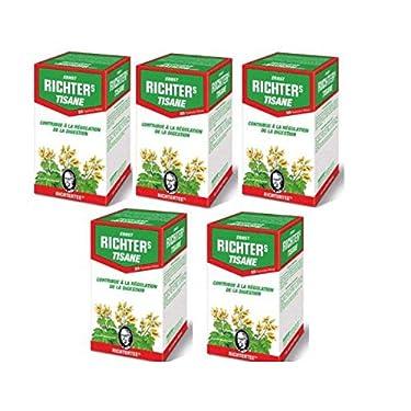 Richters TRANSIT Ernst Richter's - Tisane Ernst Richters - 5 cajas de té de hierbas de Ernst Richter de 20 sobres - tratamiento de 3 Meses