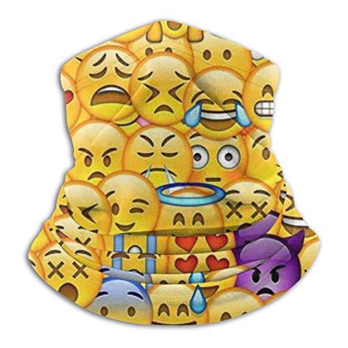 Tour de Cou Cagoule Microfibre Chapeaux Tube Masque Visage, Fondo De Pantalla De Emoticon Fleece Neck Warmer - Reversible Neck Gaiter Tube, Versatility Ear Warmer Headband & For Men And Women