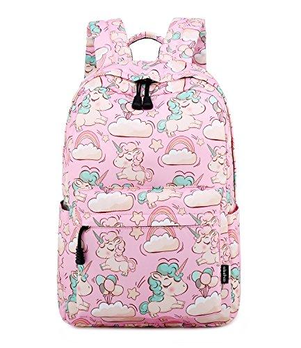 Abshoo Cute Lightweight Unicorn Backpack For Elementary Girls Kids Bookbag (Pink)