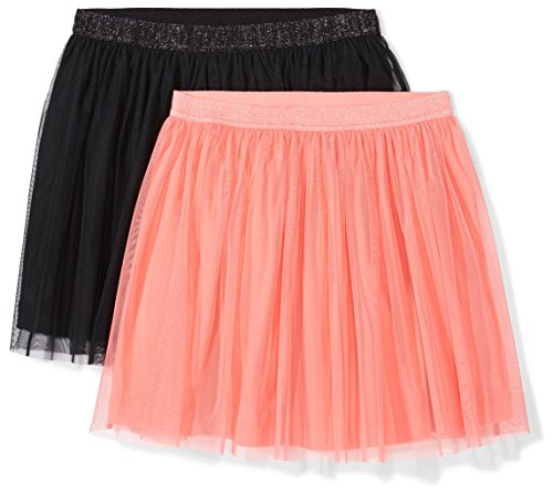 Amazon Brand - Spotted Zebra Kids Girls Tutu Skirts, 2-Pack Coral/Black, Small