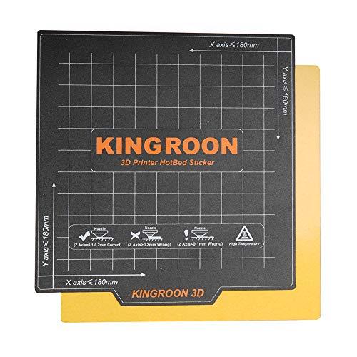 Cinta adhesiva de superficie de construcción de cama caliente con impresión de dos capas magnética Flex para plataforma de construcción de impresora 3D Cama con calefacción(180x180 mm)